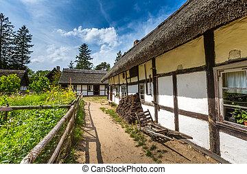 木製の家, ポーランド, 古い, kluki