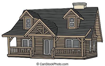 木製の家, 古い