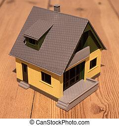 木製の家, 床