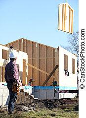 木製の家, 建設