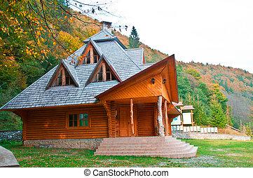 木製の家, 木