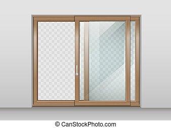 木製の戸, 滑っている
