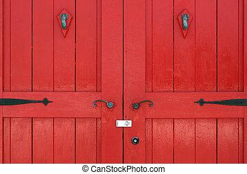 木製の戸, 赤