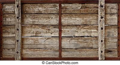 木製の木枠, 板, 手ざわり