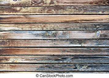 木製の板, 外気に当って変化した
