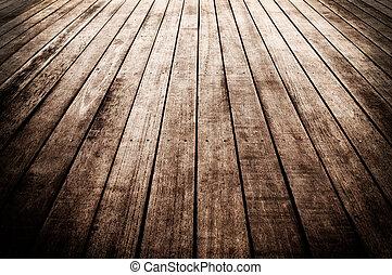 木製の板, 床