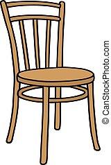 木製の椅子, 古い