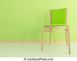 木製の椅子, 緑