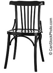 木製の椅子, 黒