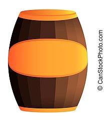 木製の樽, イラスト