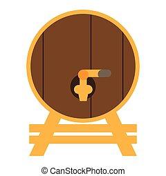 木製の樽, ビール, 隔離された
