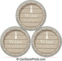 木製の樽, ワイン