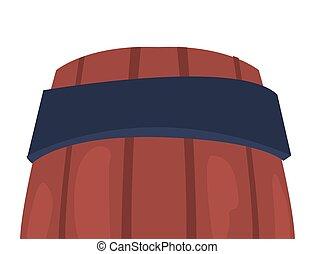 木製の樽, 白い背景