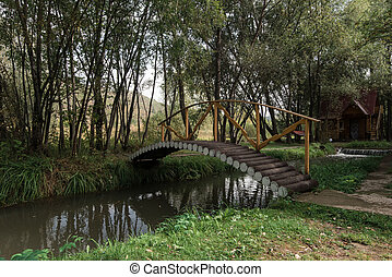 木製の橋, 庭