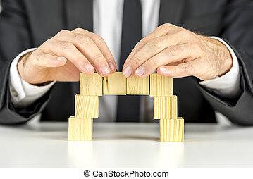 木製の橋, 立方体, 作成