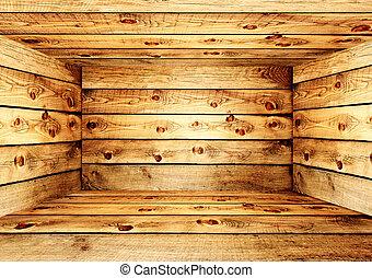 木製の箱, 空
