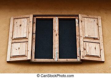 木製の箱, 窓