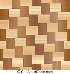 木製の 床, pattern., seamless, イラスト, ベクトル, 寄せ木張りの床