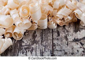 木製のshavings