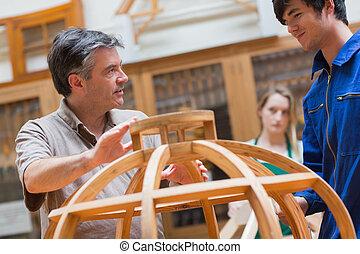 木製品, 解釋, 老師,  Cl