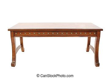 木製的咖啡桌子