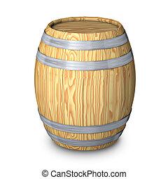 木製的桶, 由于, 鋼, 戒指