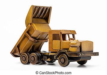 木車, 白, おもちゃ, バックグラウンド。