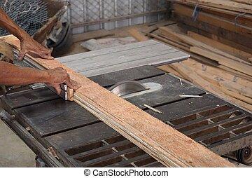木頭, 切板