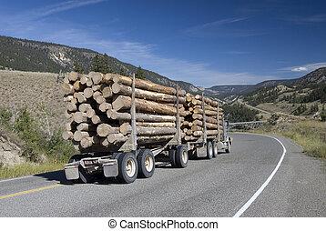 木頭, 卡車, 報告