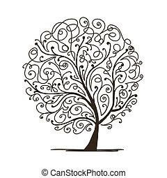木, あなたの, 芸術, デザイン, 美しい