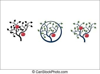 木, アップル, ブランチ