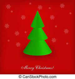 木, イラスト, クリスマス, ベクトル, 幾何学的, あなたの, design.