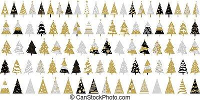 木, イラスト, ベクトル, 背景, 白い クリスマス