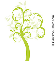 木, エコロジー, ベクトル, 緑