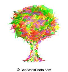 木, カラフルである, 小片, 抽象的