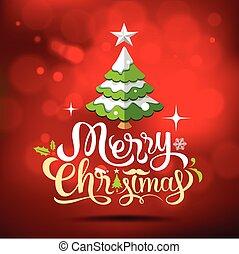 木, クリスマスカード, 挨拶