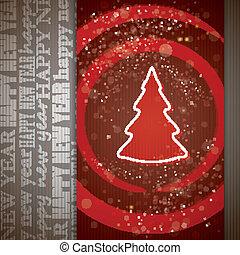 木, クリスマスカード