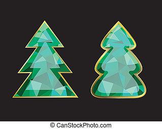 木, クリスマス, エメラルド