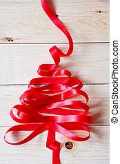 木, クリスマス, リボン