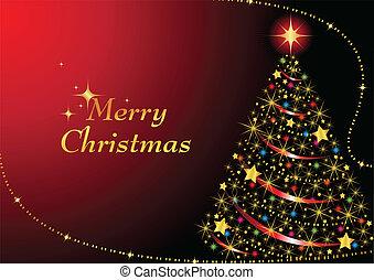 木, クリスマス, 光っていること