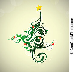 木, クリスマス, 創造的