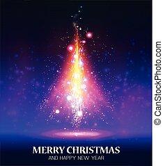 木。, クリスマス, 照ること