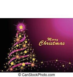 木, クリスマス, 照ること
