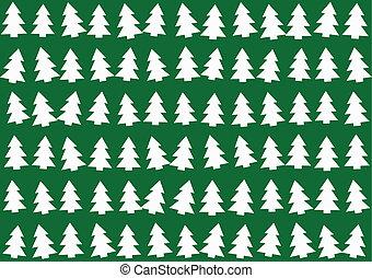 木, クリスマス, 背景 パターン