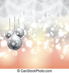 木, クリスマス, 背景, 安っぽい飾り