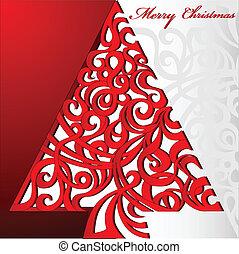 木, クリスマス, 陽気
