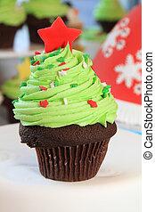 木, クリスマス, cupcake