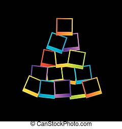 木, クリスマス, polaroids