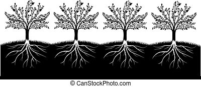 木, シルエット