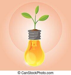 木, シンボル, 有機体である, 植物, ランプ